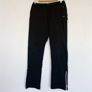 ASICS Black & White Athletic Pants Zipper Ankle